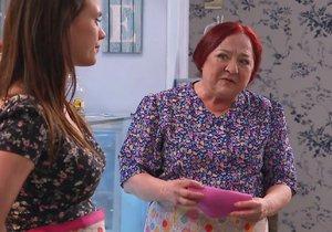 V seriálu Ohnivý kuře hraje Ludmila Molínová pomocnici Vopršálkovou.