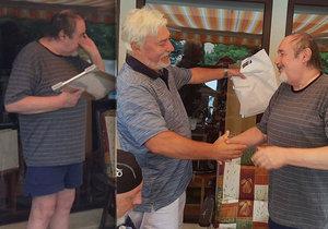 Petr Novotný (70) se vrací do života! Na tajnou oslavu narozenin přijeli i kamarádi.