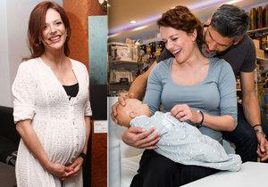 Těhotná Andrea Kerestešová zvažovala, že sní vlastní placentu.
