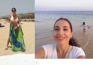 Míša Kuklová po rozchodu září, dráždí dekoltem z dovolené! S kým si užívá na pláži?
