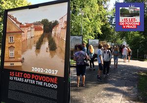 Na Kampě je nová výstava fotografií povodně roku 2002. Návštěvníci ji mohou navštívit do konce září.