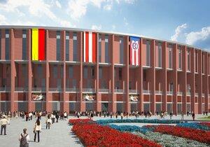 Nový stadion Za Lužánkami bude vysoký 30 metrů. Předpokládá se, že na něm bude hrát zápasy nejen Brno, ale i česká fotbalová reprezentace.