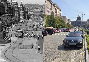 Václavské náměstí v minulosti využívaly tramvaje v mnohem větší míře. Vrátí se do centra Prahy staré pořádky?