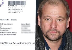 Herec Marek Taclík: Náhlý zvrat v dražbě bytu! Utekl exekutorům z lopaty