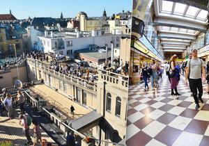 Na střechu Lucerny chtěl každý. Tvořily se dlouhé fronty.