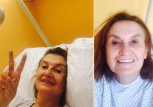 Eva Holubová byla podruhé na operaci kolene.