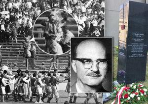 Pomník Ryszarda Siwiece před ÚSTR stojí 7 let.