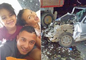 Při hrozivé nehodě felicie a traktoru byly zraněné i dcery Patrika Popika. Kájinka (7) je už doma, Klaudinka (4, vlevo) je stále v nemocnici, její stav se lepší.