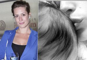 Zahradnická ukázala fotku s týdenní dcerou! Jaké jsou její první dojmy z mateřství?