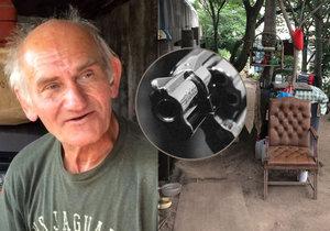 Bezdomovce Václava Šímu v Praze ohrožoval muž s pistolí.