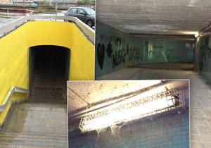 Systém podchodů mezi Vltavskou a Hlávkovým mostem se částečně vymaloval.
