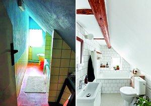 Čtyřicet let nepoužívaná koupelna je nyní větší a světlejší