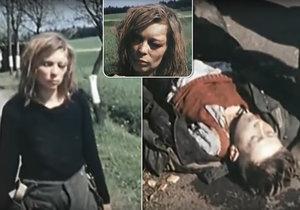 Video z roku 1945 zachycuje zmlácenou, vysílenou německou dívku.