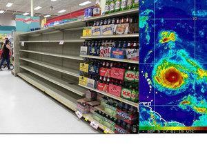 Američané se připravují na hurikán Irma, na Floridě nakupují zásoby.