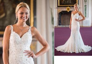 Tereza Fajksová ve svatebních diamantových šatech.