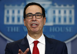 """Ministr financí Steven Mnuchin zdůraznil, že Spojené státy jsou odhodlány """"maximalizovat tlak"""" zacílený na odstřižení Severní Koreje od vnějších zdrojů obchodu a příjmů."""