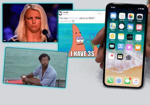 Lidé si na internetu utahují z ceny iPhonu X.