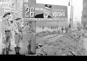V Praze se začalo jezdit vpravo se zpožděním oproti zbytku země. Nacisté změnu jen uspíšili.