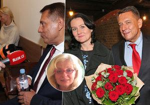 Odbornice hodnotila řeč těla Paroubkových u soudu.
