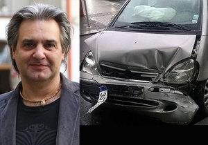 Slávek Boura boural. Z nehody vyvázl naštěstí bez zranění.