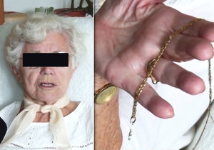 Seniorka (88) se ubránila feťákovi (37). Zachránila řetízek a zloděje ještě popadla za batoh.