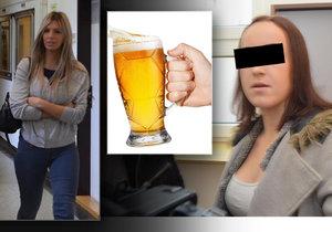 Modelka Sarah (23, vlevo) se u soudu zpovídá z napadení Denisy (17). O obličej jí rozbila sklenici. Za podobný útok přitom byla už dvakrát souzena.