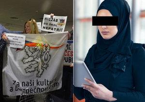"""Advokátku, která zastupovala mladou dívku ve sporu o hidžáb v české škole, stihla zloba """"naštvaných matek"""""""