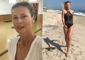 Daniela Peštová nenalíčená vs. sexy dračice na pláži