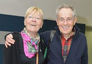 Jan Tříska s manželkou Karlou Chadimovou