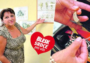 Marie Fišerová (59) z Příbrami pomáhá neslyšícím a nedoslýchavým lidem! Sama má ale problém: Na jedno ucho neslyším, v druhém mi píská