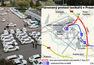 V pondělí taxikáři plánují blokádu.