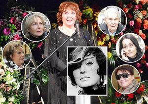 Celebrity se rozloučily s Květou Fialovou.