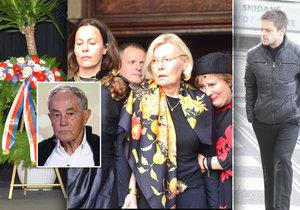 Pohřeb Jana Třísky byl velmi emotivní.
