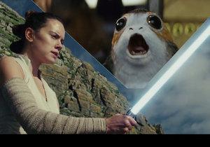 Záběry z traileru na sci-fi film Star Wars: Poslední z Jediů