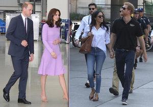 Proč William nedrží Kate nikdy za ruku a Harry svou Meghan ano?