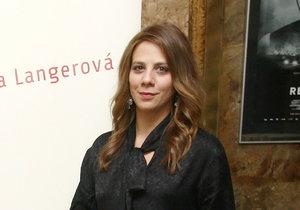 Aneta Langerová na premiéře filmu Osm hlav šílenství