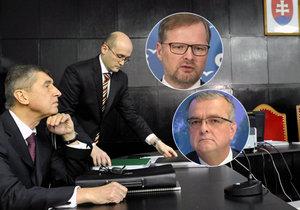 Petr Fiala z ODS i Miroslav Kalousek z TOP 09 se znovu opřeli do Andreje Babiše kvůli jeho údajné spolupráci s StB.