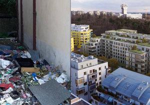 Problémy s bezdomovci v Jeseniově ulici přetrvávají, věc nejspíš vyřeší až demolice.