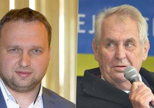 Prezident Miloš Zeman a ministr zemědělství Marian Jurečka (KDU-ČSL)