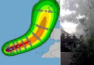 Hurikán Ofélie se řítí na Evropu.