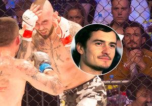 Orlando v Praze vyrazil na zápas MMA.