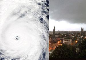 Tropická bouře Ophelia se řítí na Irsko a Velkou Británii.