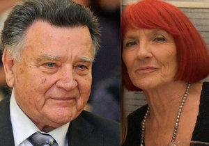 Richard Adam požádal po 50 letech manželství o rozvod.