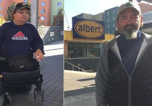 Neuvěřitelný zkrat předvedl pracovník ochranky Albertu, když šel do práce. Bezdůvodně shazoval beznohého invalidu z vozíku a napadl i jeho kamaráda.