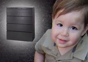 Malého Jozefa zavalila komoda z Ikea.
