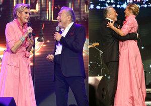 Karel Gott se setkal po deseti letech na jednom pódiu s Helenou Vondráčkovou