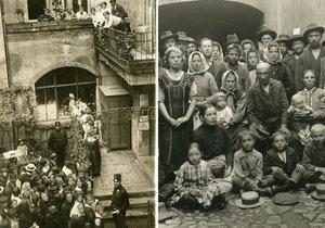 Výjevy z Prahy za první světové války jsou z dnešního pohledu nepředstavitelné.