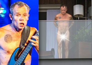 Naháč Flea z Red Hot Chili Peppers: Vystavoval se nahý na balkoně!