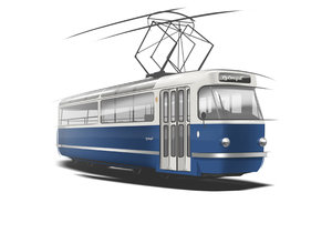 Zbrusu nová výletní tramvaj T3 Coupé by se měla ulicemi Prahy projet v říjnu 2018.