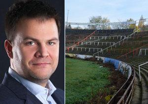 Starosta Brna-střed Martin Landa málem přišel o funkci kvůli návrhu směnit pozemky potřebné na výstavbu stadionu za devět domů v centru Brna.